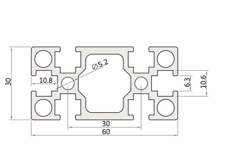 国标铝型材 JL-6-3090G