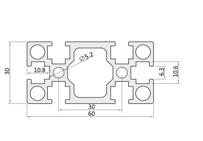 国标铝型材 JL-6-3060G