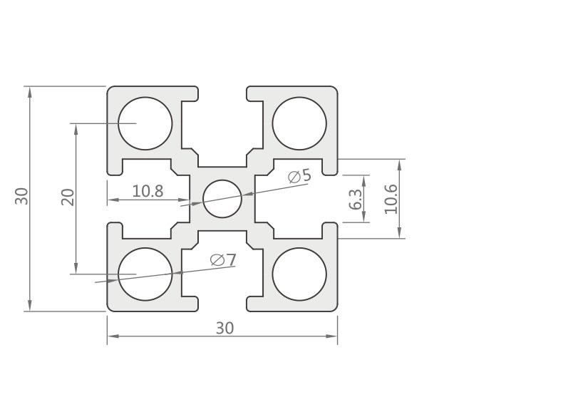 国标铝型材 JL-6-3030G