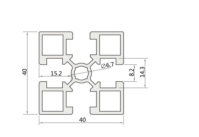国标铝型材JL-8-4040GA