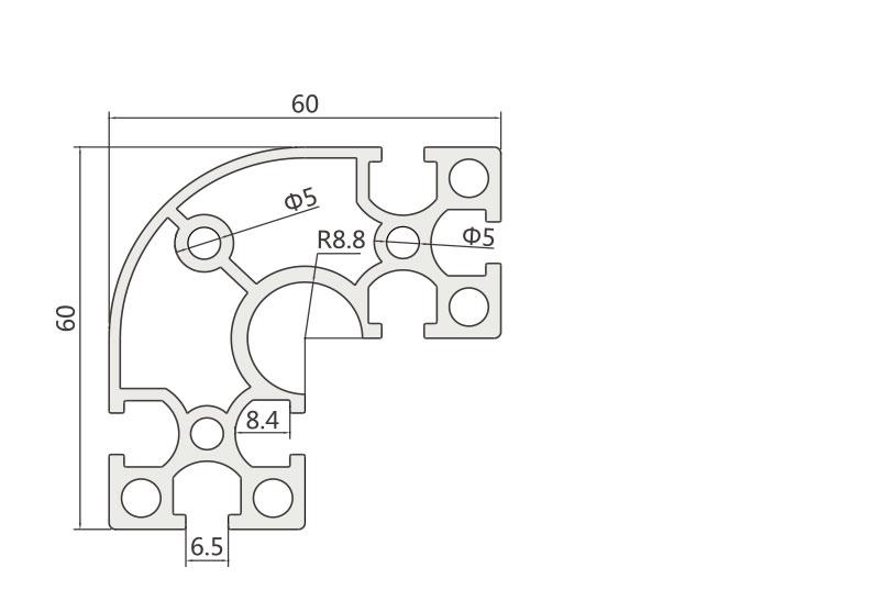 国标铝型材JL-6-6060GR