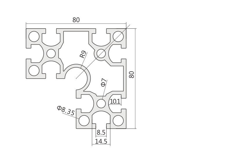 国标铝型材 JL-8-8840GB