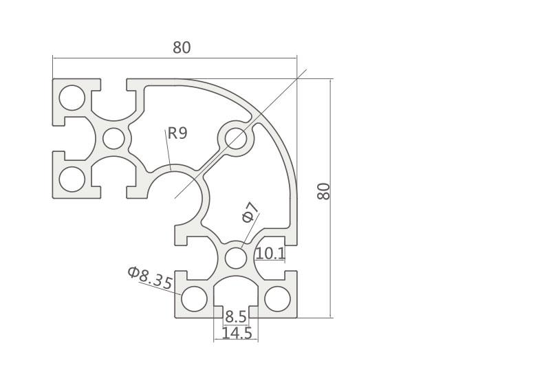 国标铝型材 JL-8-8840GA