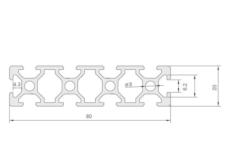 欧标铝型材JL-6-2080E