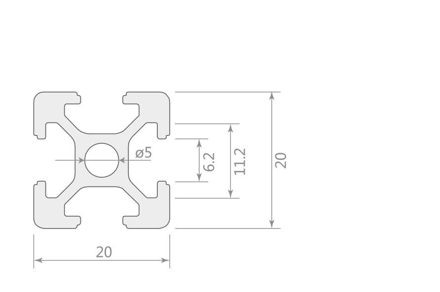 欧标铝型材JL-6-2020E