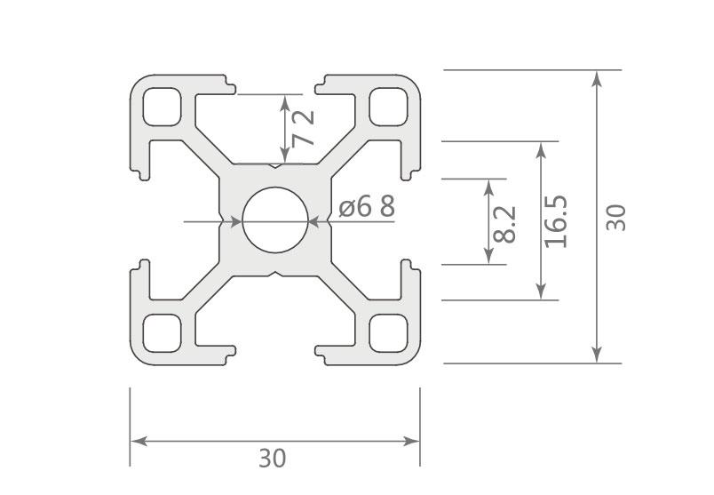 欧标铝型材JL-8-3030EA