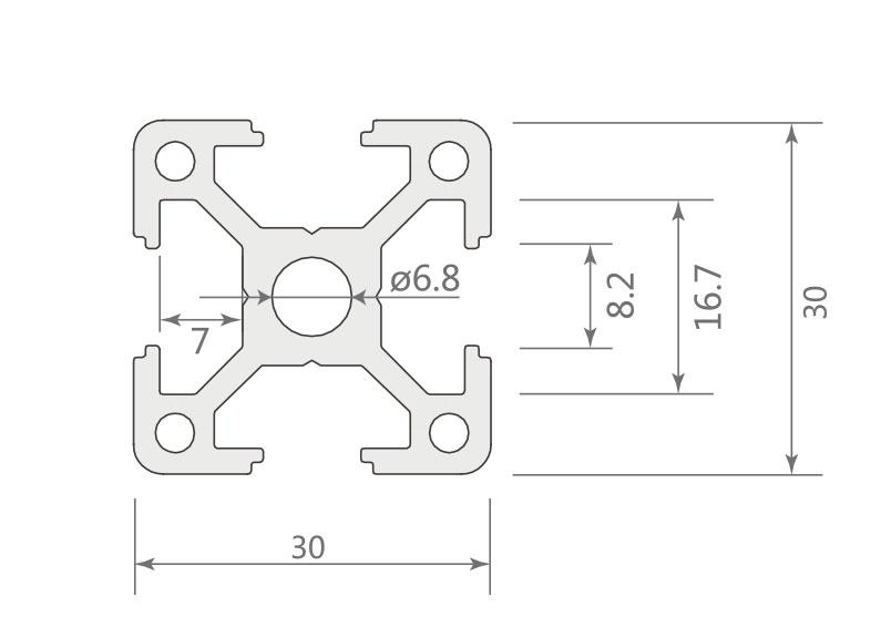欧标铝型材JL-8-3030EB