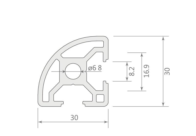 欧标铝型材JL-8-3030ER