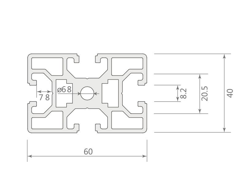 欧标铝型材 JL-8-4060E