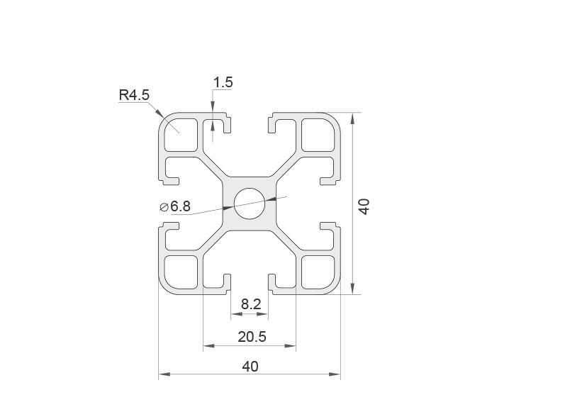 欧标铝型材 JL-8-4040EL