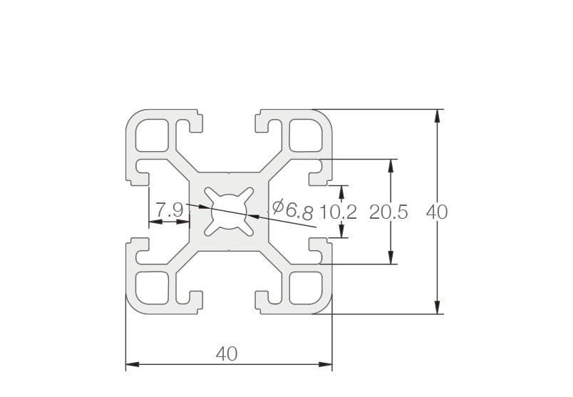 欧标铝型材JL-10-4040EF