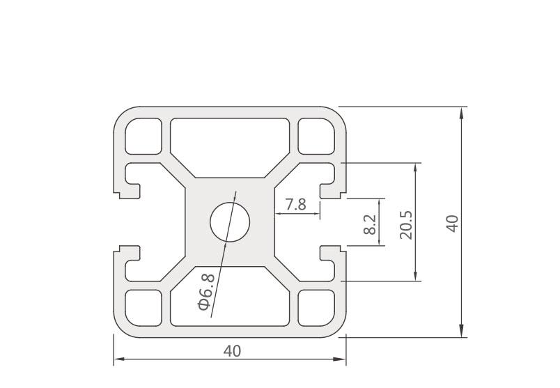 欧标铝型材JL-8-4040EG