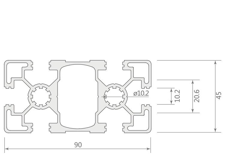 欧标铝型材JL-10-4590EA