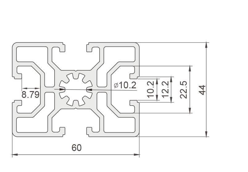 欧标铝型材JL-10-4560E