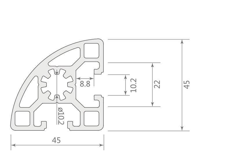 欧标铝型材JL-10-4545ER