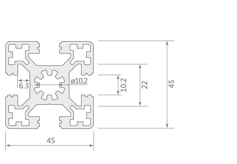 欧标铝型材JL-10-4545EC