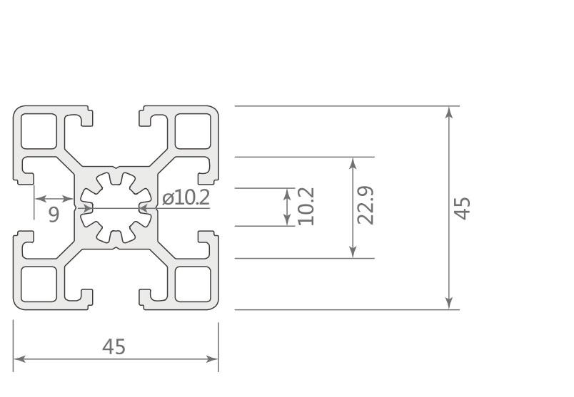 欧标铝型材JL-10-4545EB