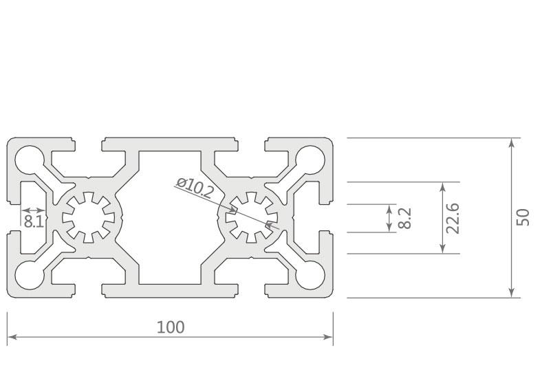 欧标铝型材JL-8-50100EB