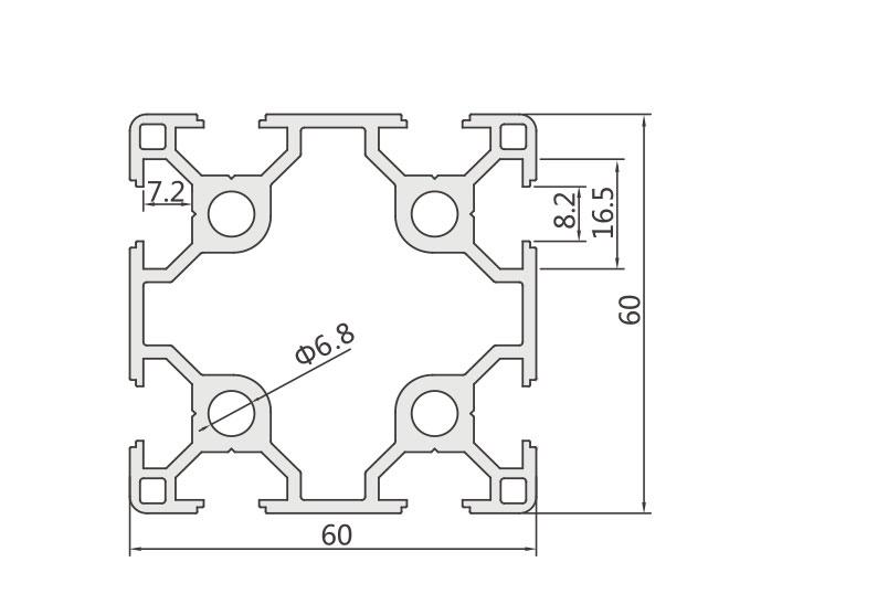 欧标铝型材JL-8-6060EC