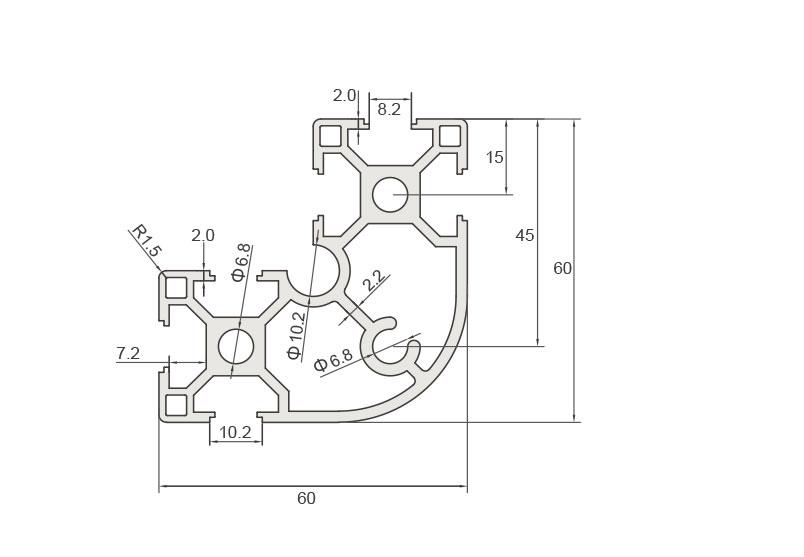 欧标铝型材JL-8-6630ER