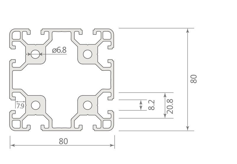 欧标铝型材JL-8-8080EA