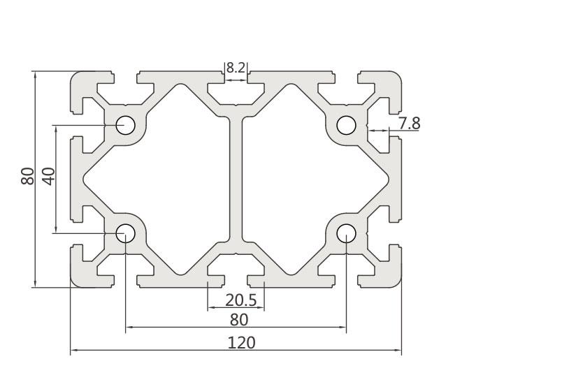 欧标铝型材JL-8-80120E