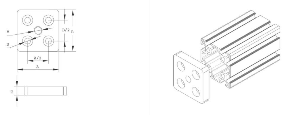 端面连接板