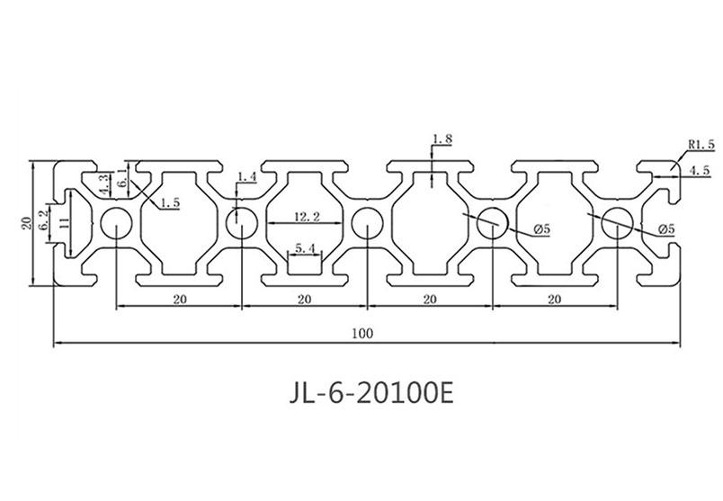 欧标铝型材JL-6-20100E