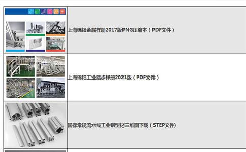 工业铝型材型号大全